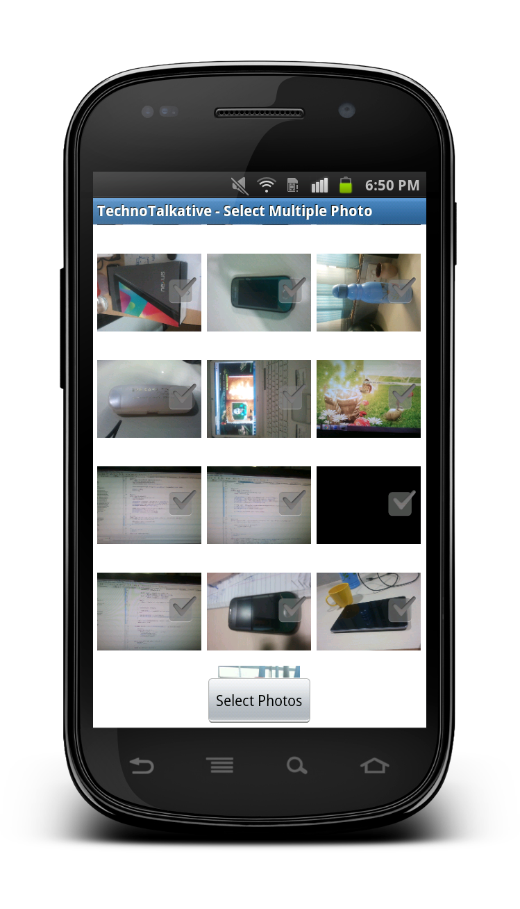 Select multiple photos from gallery